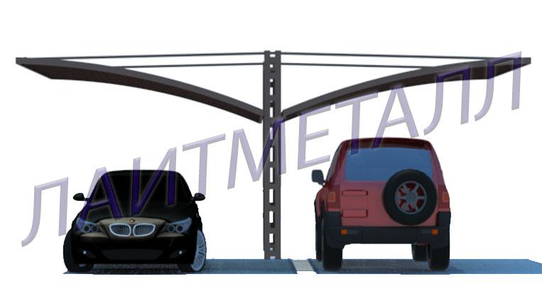 консольные навесы для авто 2-х авто фото