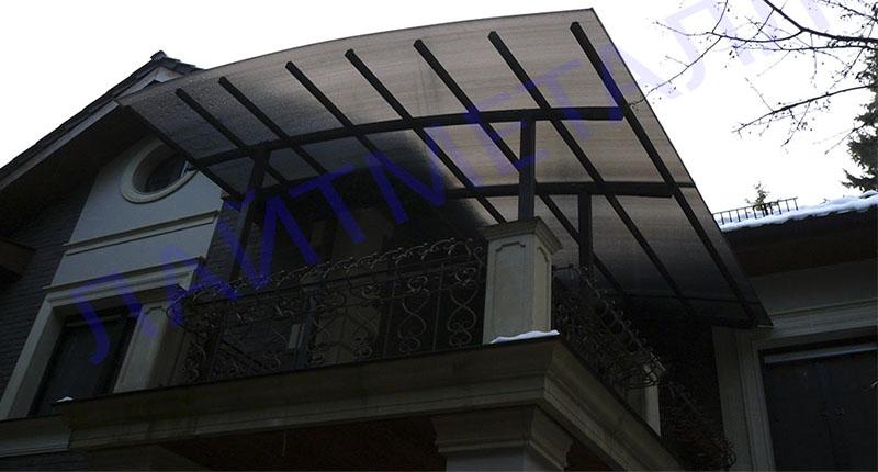 навесы на балконе и козырьки фото и цена